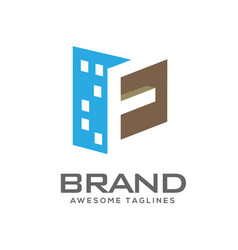 Letter e real estate logo vector