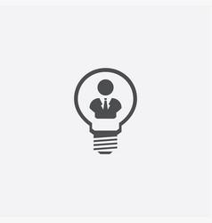 Light bulb man icon vector