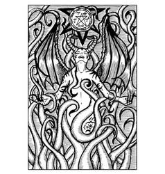 Lilith engraved fantasy vector