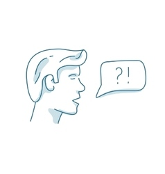 Man with dialog speech bubble discussion vector