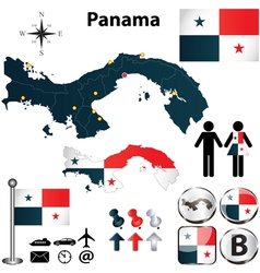 Map of Panama vector