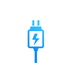 mobile charger icon on white vector image