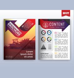 Modern corporate business flyer layout design vector