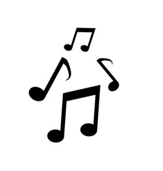 music icon note vector image