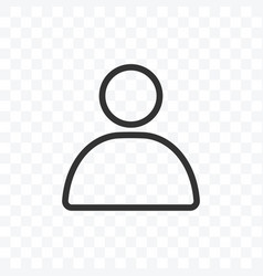 Outline profil user or avatar icon isolated on vector
