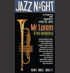 Poster jazz festival trumpet vector