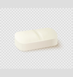 realistic medical pill vector image