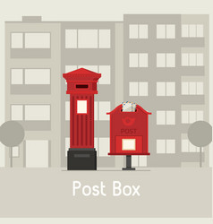 red street mail boxes vector image