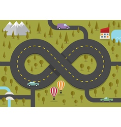 road in shape infinity vector image