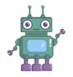 robotic toy icon cartoon style vector image