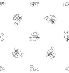 safe money hand pattern seamless vector image