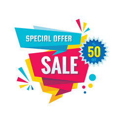 sale - creative banner abstra vector image