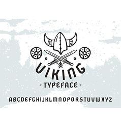 Sanserif font in historical style viking vector