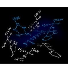 science molecules vector image