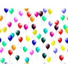 seamless colourful balloons with glare vector image