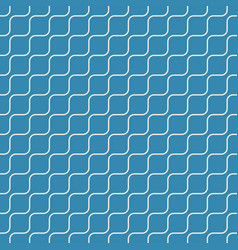 Seamless geometric pattern oblique wave on blue vector