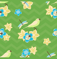 Seamless pattern birds with vector