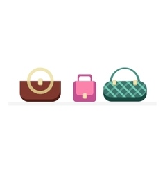 Set of Handbags Design Flat Isolated vector image