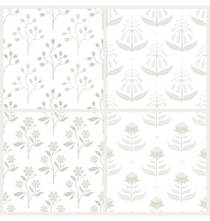 Set of seamless patterns with Australian flora vector