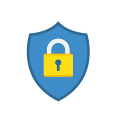 shield icon with padlock vector image