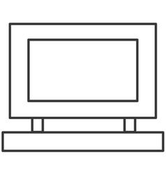 Simple desk computer icon vector