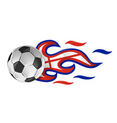 soccer ball on fire with england flag vector image