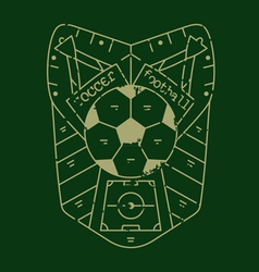 soccer emblemVS vector image