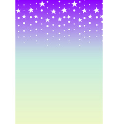 Star falling abstract purple green background vector