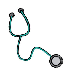 stethoscope medical equipment pulse cardiology vector image