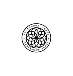 sunflower seeds logo vector image