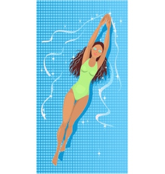 Swimming in a pool vector