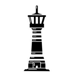 Tall lighthouse icon simple style vector