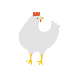The Chicken turned her head vector