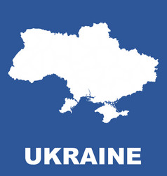 ukraine map on blue background flat vector image