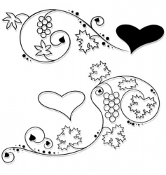 valentines floral vector image vector image