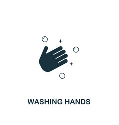 washing hands icon premium style design from vector image