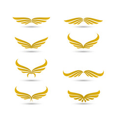 wings logo collection vector image