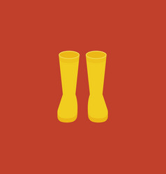 yellow rubber boots vector image