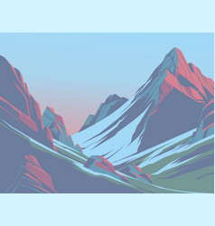 mountains in the afternoon vector image vector image