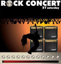 Rock concert wallpaper vector image vector image