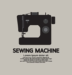 Single Sewing Machine Black Graphic vector image vector image