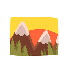 sunrise in the mountains beautiful summer vector image