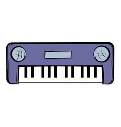 synthesizer icon cartoon vector image