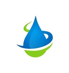 water drop bio ecology logo vector image