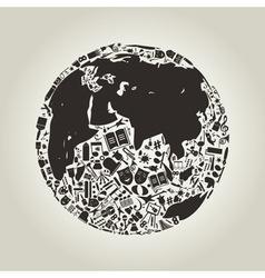 Art a planet vector image