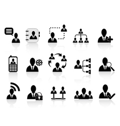 black social communication icons vector image vector image