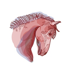 Chinese new year of the Horse sketch style EPS10 vector image