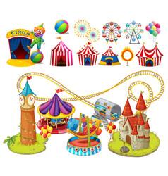 circus rides and tents vector image