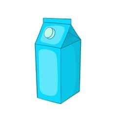 Milk carton icon cartoon style vector image vector image