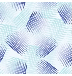 seamless abstract pattern with blue halfton vector image